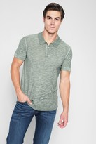 7 For All Mankind Short Sleeve Lightweight Polo In Sage
