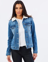 DECJUBA Sian Shearling Denim Jacket