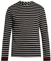 Mcq Alexander Mcqueen Striped Cotton Long-sleeved Top