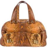 Donna Karan Python Handle Bag