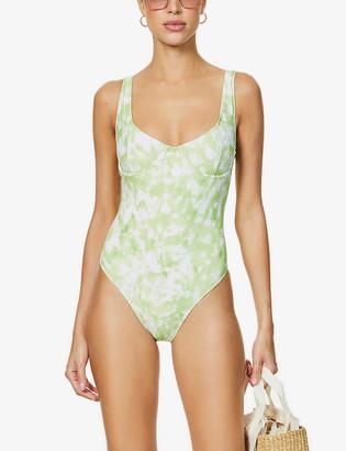 Faithfull The Brand Roos Mona tie-dye swimsuit