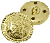 CoulorButtons 20pcs Round Antique Carved Coat Brass Metal Buttons