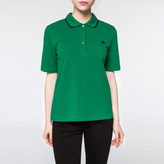 Paul Smith Women's Green Embroidered PS Logo Polo Shirt