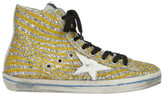 Golden Goose Deluxe Brand Glitter Star Hi-Top Sneakers