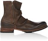 Shoto Men's Wrinkled Double-Zip Boots