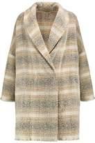 IRO Checked Wool-Blend Coat