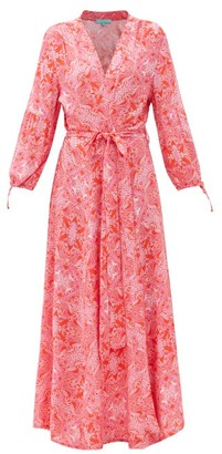 Melissa Odabash Gabby Floral-print Poplin Wrap Dress - Red