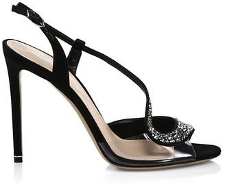 Nicholas Kirkwood S Embellished Satin Slingback Sandals