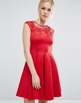 Ted Baker Embroidered Cut Out Dress