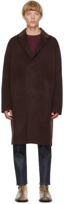 Acne Studios Brown Wool Single-Breasted Coat