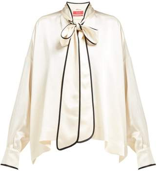F.R.S For Restless Sleepers F.R.S – For Restless Sleepers Pussy-bow Crepe Blouse - Womens - Cream