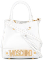 Moschino mini branded tote - women - Leather/Metal (Other) - One Size