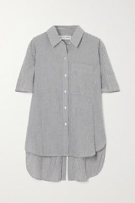 Apiece Apart Iza Striped Organic Cotton Shirt - Navy