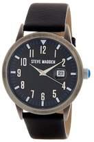 Steve Madden Women&s Alloy Leather Strap Analog Watch
