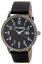 Steve Madden Women's Alloy Leather Strap Analog Watch
