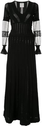 Ingie Paris Long-Sleeve Flared Dress