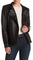 Bagatelle Genuine Leather Asymmetrical Moto Jacket