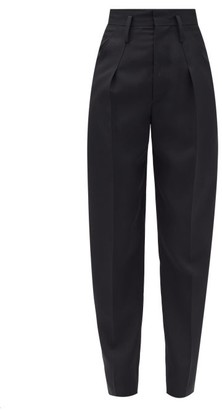 Isabel Marant Racomisl High-rise Wool-flannel Trousers - Black