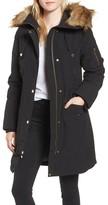MICHAEL Michael Kors Women's Water Resistant Snorkel Coat With Faux Fur Trim