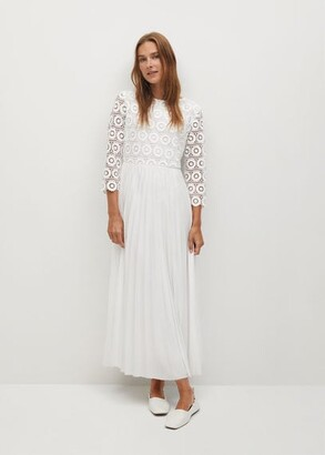 MANGO Guipure midi dress