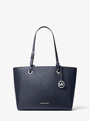 MICHAEL Michael Kors MK Walsh Medium Leather Tote Bag - Navy - Michael Kors