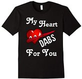Dabbing Emoji Heart for Couples T-Shirt