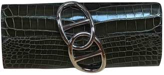 Hermes Egee Green Crocodile Clutch bags