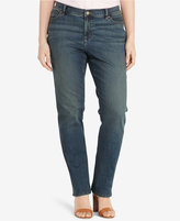Lauren Ralph Lauren Plus Size Stretch Harbor Wash Straight-Leg Jeans
