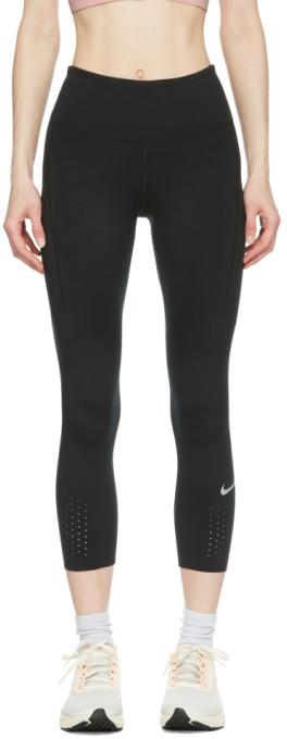 Nike Black Epic Luxe Crop Leggings