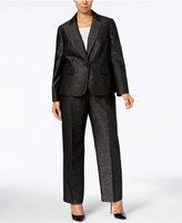 Le Suit Plus Size Single-Button Pantsuit