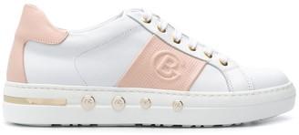 Baldinini Lace-Up Logo Sneakers