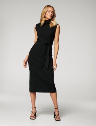 Forever New Emilia Petite Roll-Neck Knit Dress - Black - 10