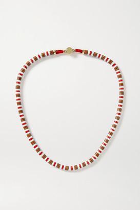 Roxanne Assoulin U-tube Wood Necklace - Brown