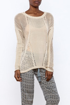 Monoreno Open Weave Knit Sweater