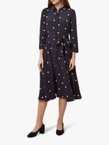Hobbs Lainey Shirt Dress, Navy/Ivory