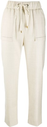Peserico High-Waisted Drawstring Trousers