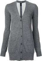 Vera Wang tulle insert cardigan - women - Elastodiene/Polyamide/Virgin Wool - XS