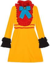 Gucci Velvet and silk ruffle dress