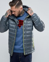 Columbia Trask Turbodown Jacket Quilt Hooded Zip Highlight
