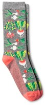Merona Women's Fashion Crew Socks Veggies Heather Gray One Size