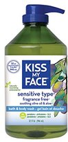 Kiss My Face Natural Shower Gel and Body Wash, Fragrance Free, 32 Ounce