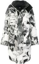 Versus printed padded coat
