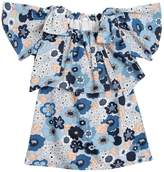 Chloé Floral Printed Cotton Poplin Dress