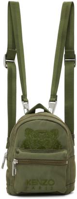 Kenzo Khaki Mini Kampus Tiger Backpack