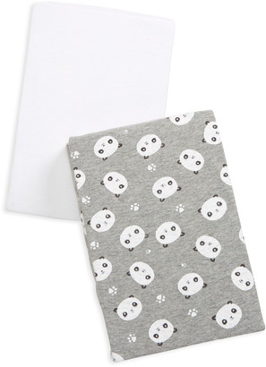 Honest Baby 2-Pack Organic Cotton Fitted Crib Sheets