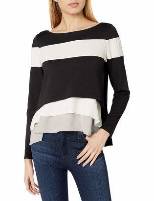 Bailey 44 Women's Two Tone Pullover with Ruffle Detail