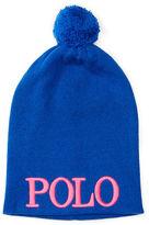 Ralph Lauren 7-16 Embroidered Knit Hat