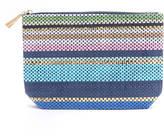 Shiraleah Striped Woven Zip Pouch Bag