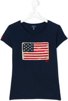 Ralph Lauren flag T-shirt - kids - Cotton - 14 yrs