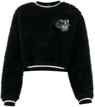 Off-White Textured Cropped Jumper